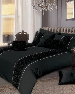 8 PCS Luxury Bed Set Smoke Design With Filling