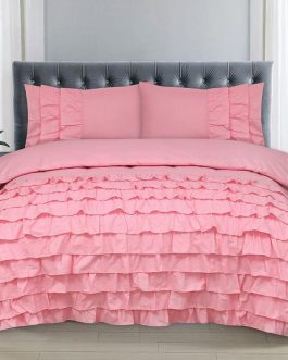 8 PCS Luxury Bed Set Frilly Design