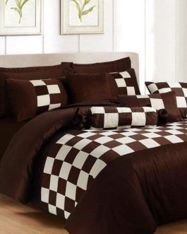 8 PCS Luxury Bed Set Patch Work Design
