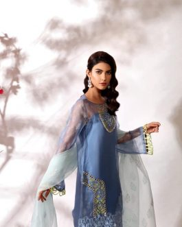 IRIS by Shurooq Stitched Embroidered 3 Piece Suit
