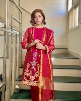 Rose Rouge by Luxeurs 3Pcs Stitched