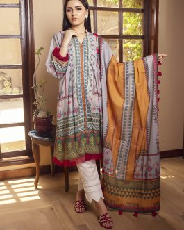 Ethnic Charm 2PCs Unstitched Lawn