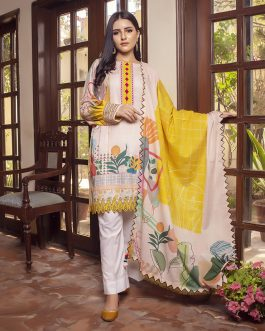Pastel Blush 2PCs Unstitched Lawn
